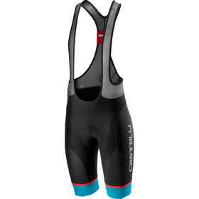 Castelli Free Aero Race 4 Bib Shorts Heren, black/sky blue